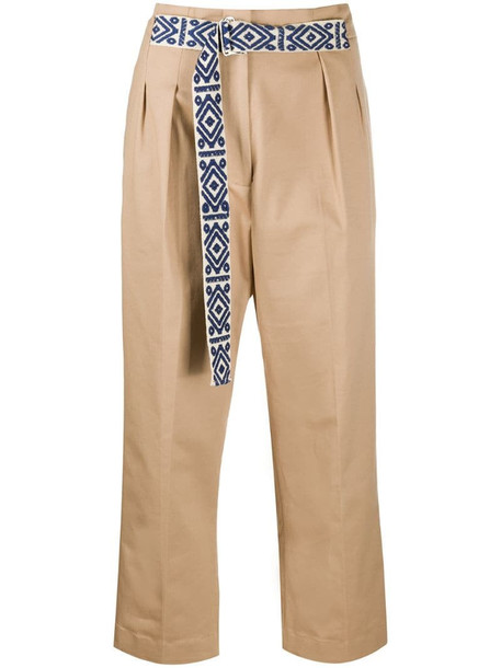 Mira Mikati belted cropped trousers in neutrals