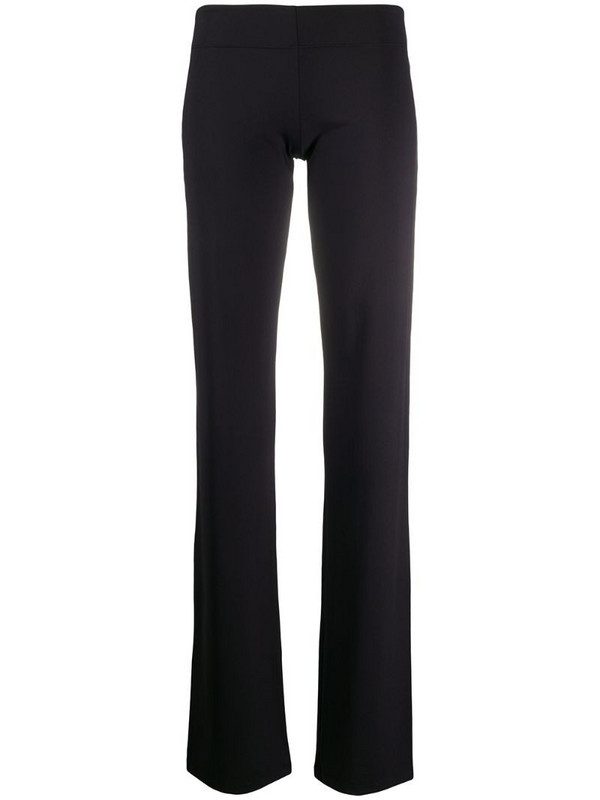Fisico slim-fit flared trousers in black