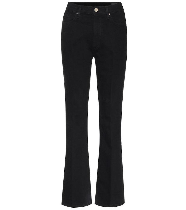 Goldsign The Comfort high-rise bootcut jeans in black