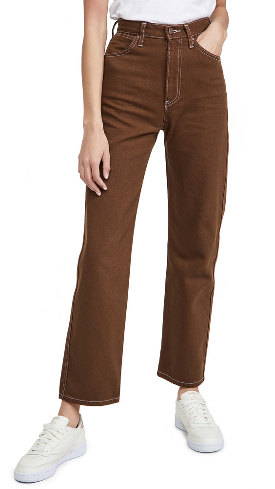 Reformation Cowboy Jeans in chocolate