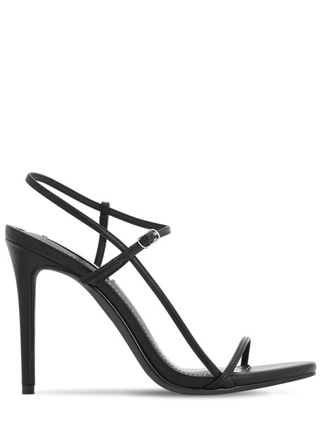 STEVE MADDEN 120mm Faux Leather Sandals in black