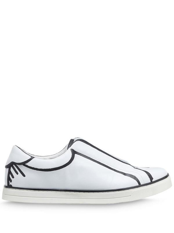 Fendi x Joshua Vides FF logo slip-on sneakers in white