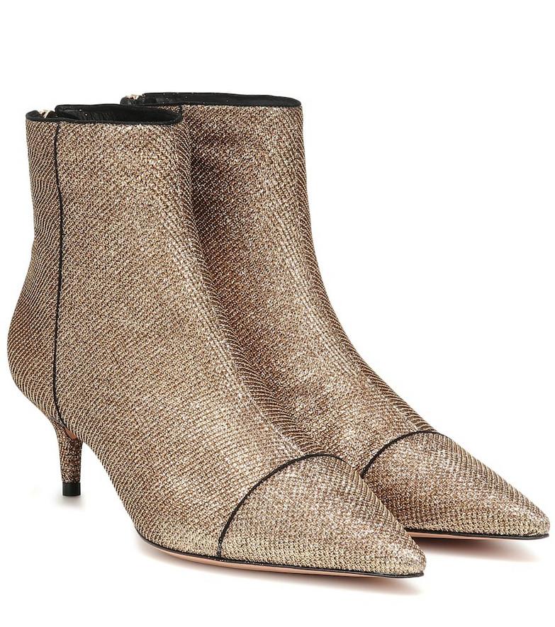 Alexandre Birman Kittie 50 lamé ankle boots in gold