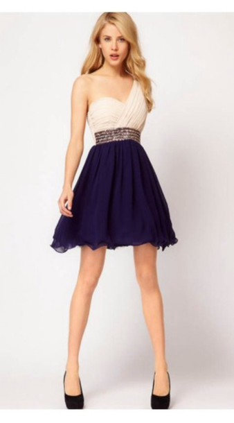 dress blue pretty girl