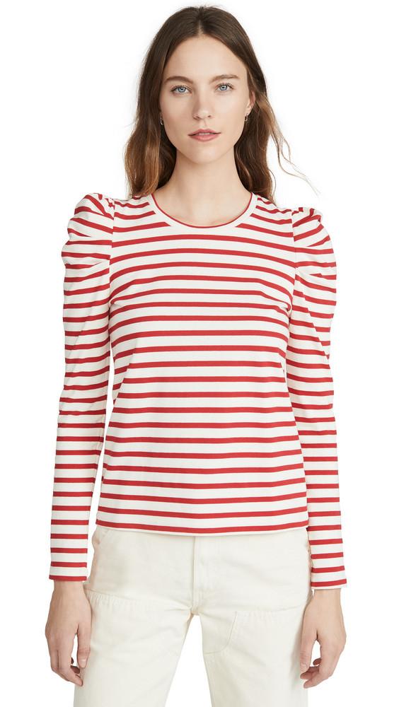 Rebecca Minkoff Talia Sweatshirt in red / white