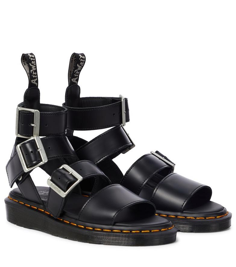 Rick Owens x Doc Marten Gryphon leather sandals in black