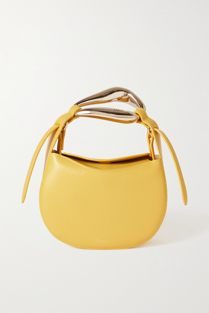 CHLOÉ CHLOÉ - Kiss Small Leather Tote - Yellow