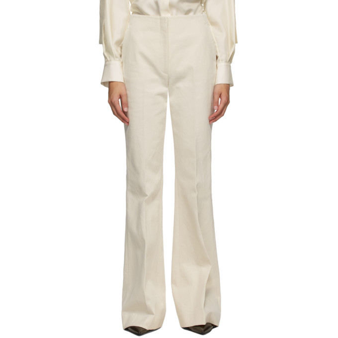 Partow Off-White Jensen Trousers in ivory