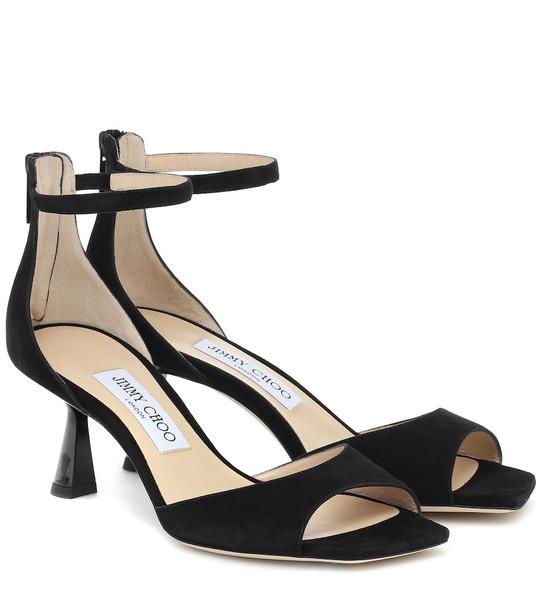 Jimmy Choo Reon 65 suede sandals in black