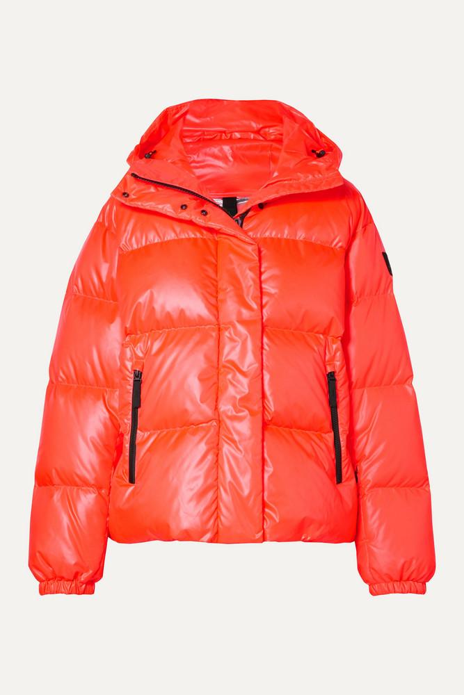 BOGNER FIRE+ICE BOGNER FIRE+ICE - Ranja Oversized Cropped Hooded Quilted Down Ski Jacket - Orange