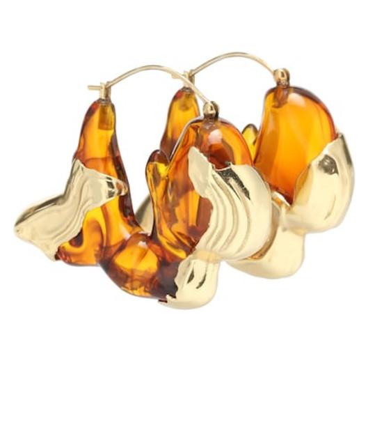 Ellery Han resin earrings in metallic