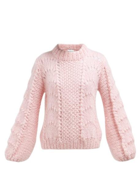 Ganni - Julliard Mohair And Wool Blend Sweater - Womens - Pink