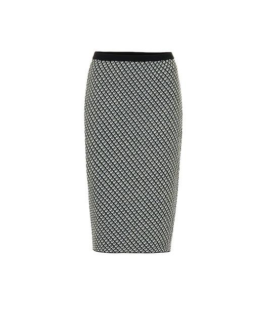 Diane von Furstenberg Mapel wool-blend pencil skirt in black