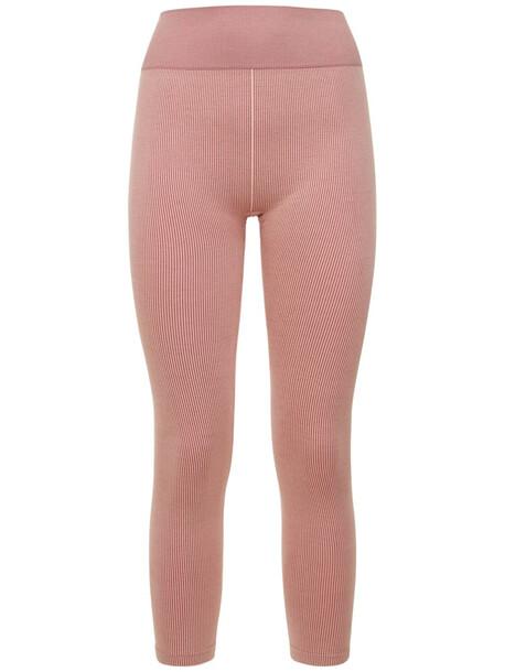 THE UPSIDE Circular Knit High Waist Leggings in pink