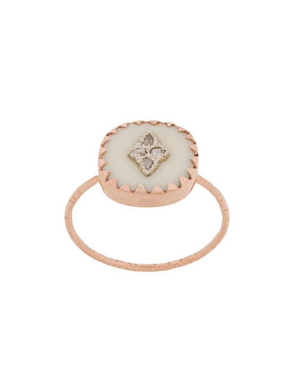 Pascale Monvoisin 9kt rose gold PIERROT WHITE ring in metallic