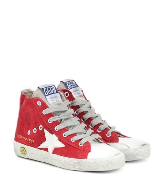Golden Goose Deluxe Brand Kids Francy high-top suede sneakers in red