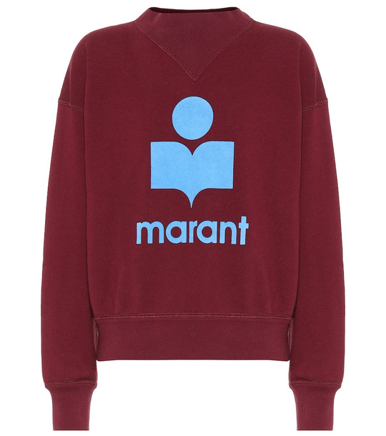 Isabel Marant, Étoile Moby cotton-blend sweatshirt in red