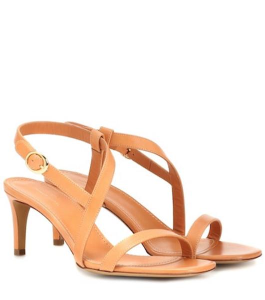 Mansur Gavriel Leather sandals in brown
