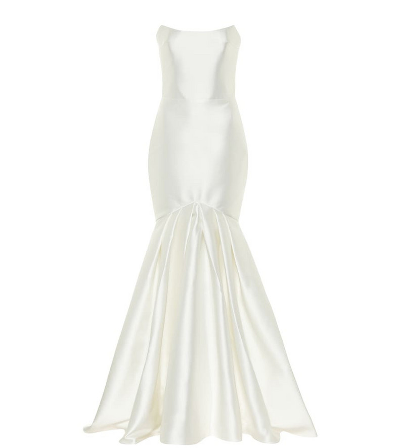 RASARIO Exclusive to Mytheresa - Satin gown in white