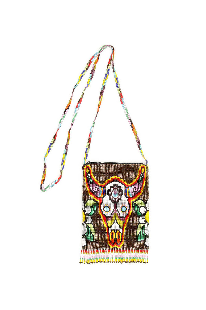 Jessie Western Beaded Bag in white
