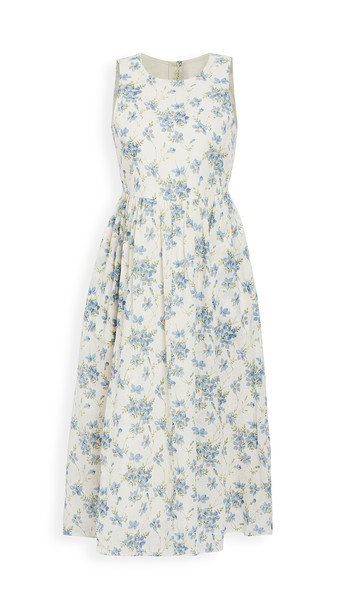 THE GREAT. THE GREAT. The Linden Dress. in blue