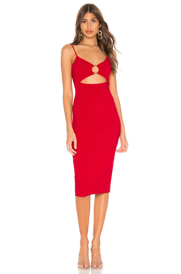 Privacy Please Sterling Midi Dress in red