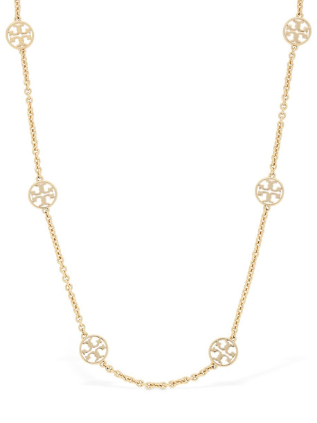 TORY BURCH Logo Charm Necklace in gold