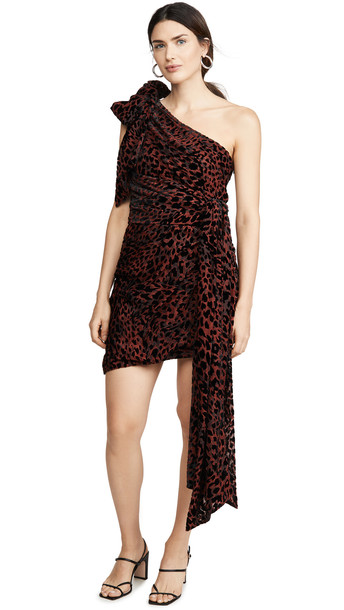 Misha Collection Moxie Dress in red / leopard