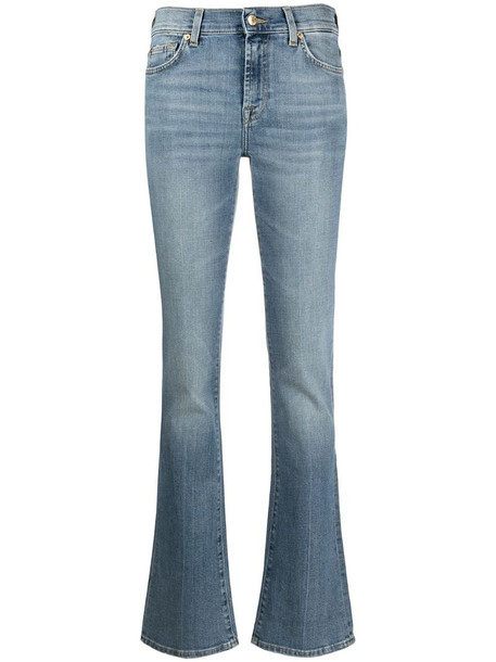 7 For All Mankind mid-rise straight leg jeans in blue