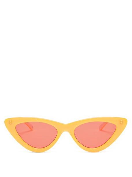 Le Specs - X Adam Selman The Last Lolita Cat Eye Sunglasses - Womens - Orange
