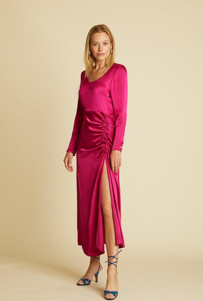 The Line by K Elio Dress Magenta