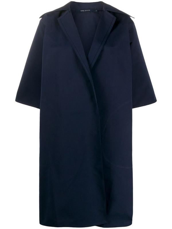 Sofie D'hoore oversized midi coat in blue