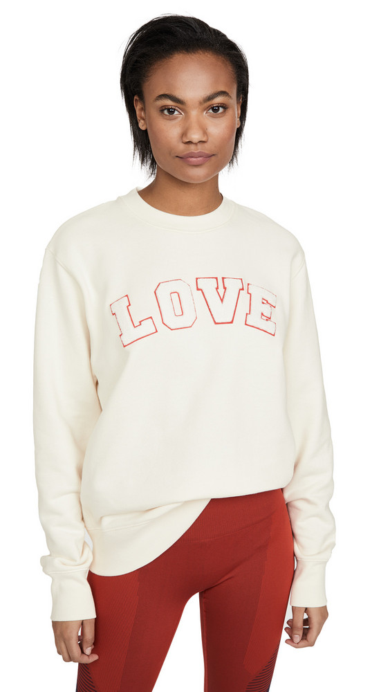 Tory Sport French Terry Love Sweatshirt in ivory