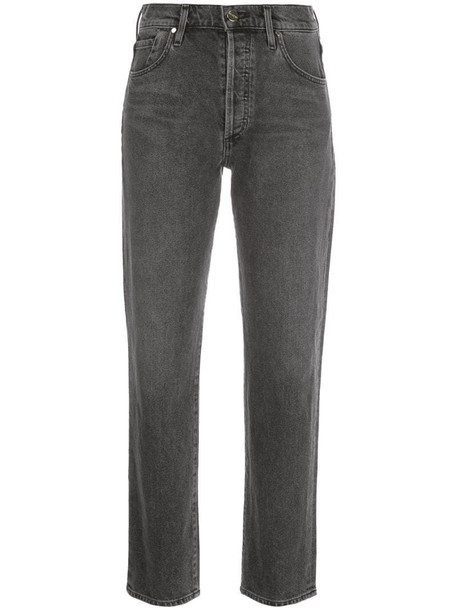 GOLDSIGN high-rise slim jeans in grey