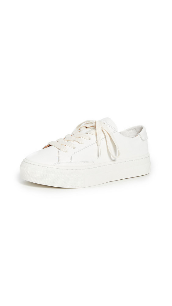 Soludos Ibiza Platform Sneakers in white