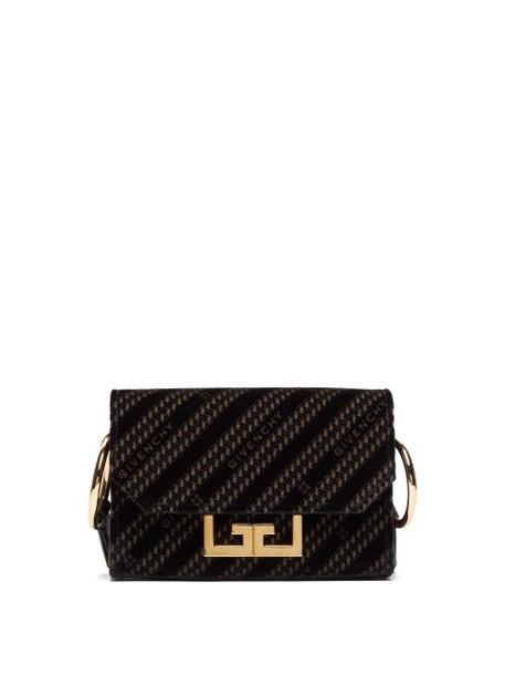 Givenchy - Eden Chain Pattern Velvet Belt Bag - Womens - Black