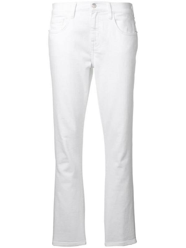 Current/Elliott straight leg jeans in white