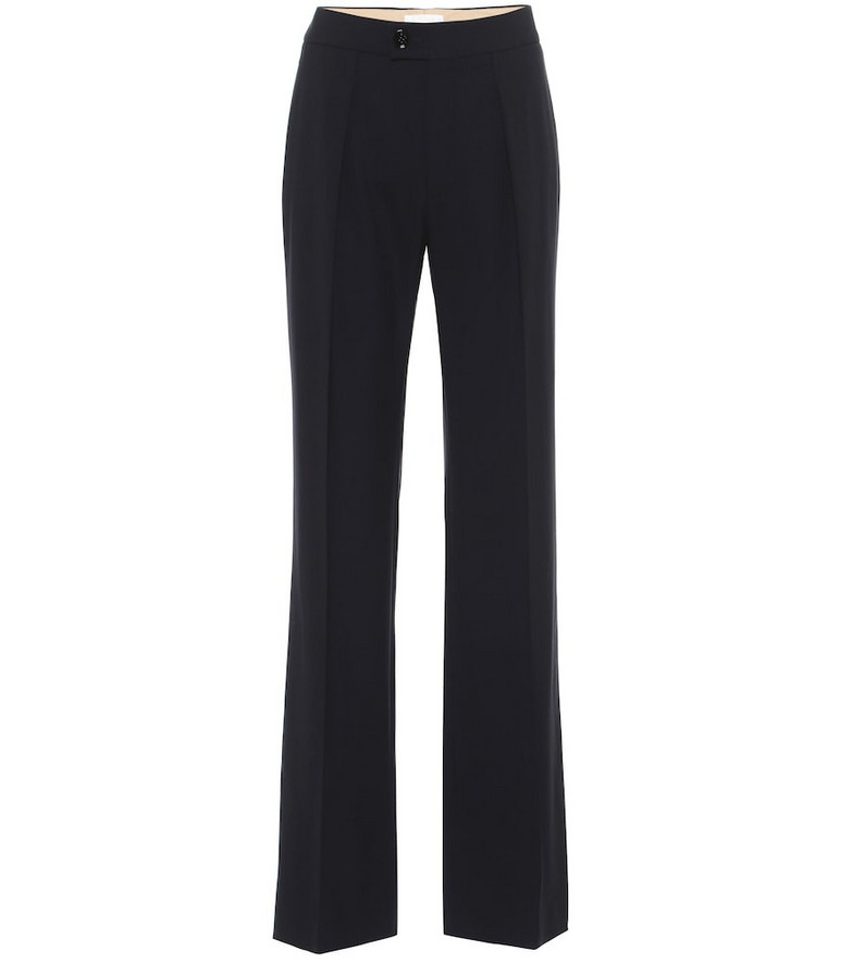 Chloé Stretch-wool straight pants in blue