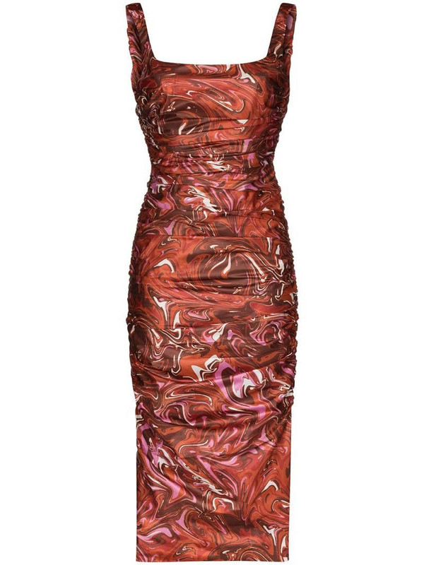 Maisie Wilen Lady Miss graphic-print midi dress in red