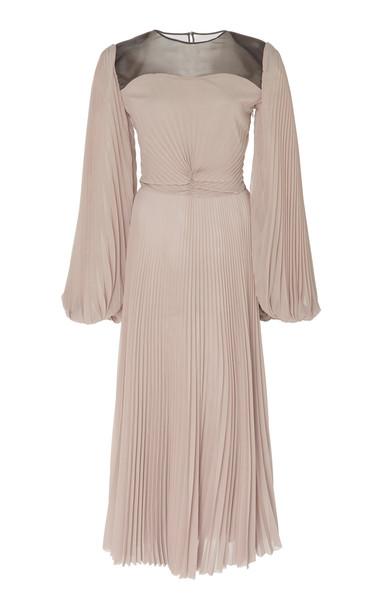 Tre by Natalie Ratabesi The Howlite Plissé Dress Size: 0 in grey