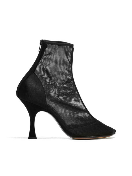 Mm6 Maison Margiela Sheer Ankle Boots in nero