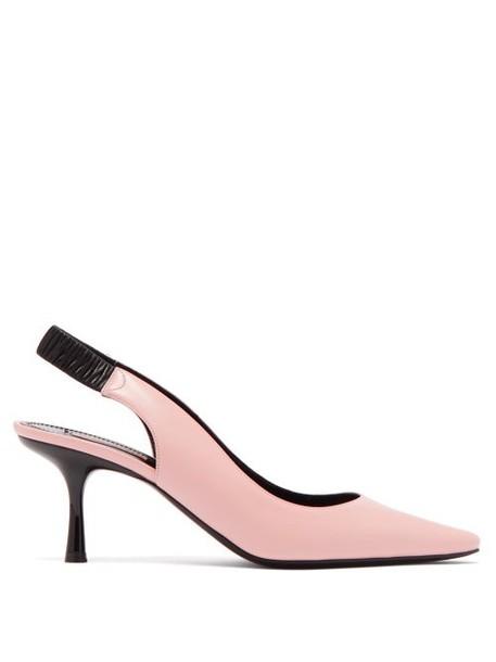 Fabrizio Viti - Harper Leather Slingback Pumps - Womens - Light Pink