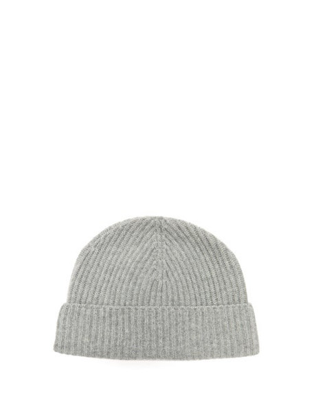 Johnston's Of Elgin - Ribbed Cashmere Beanie - Womens - Grey