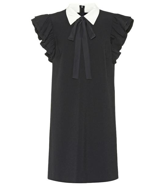 REDValentino Crêpe minidress in black