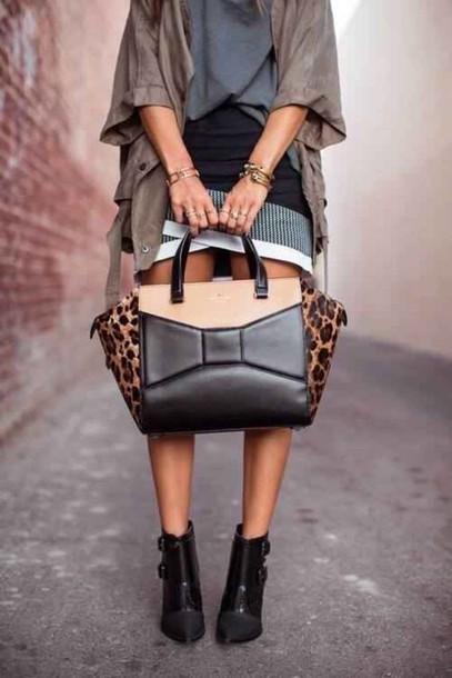 bag leopard print panter bows purse style bag beautiful bags jacket