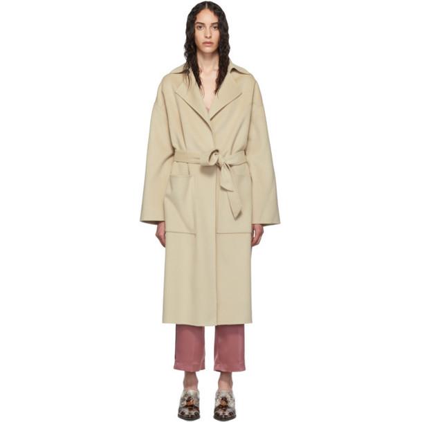 Nanushka Beige Wool Alamo Coat