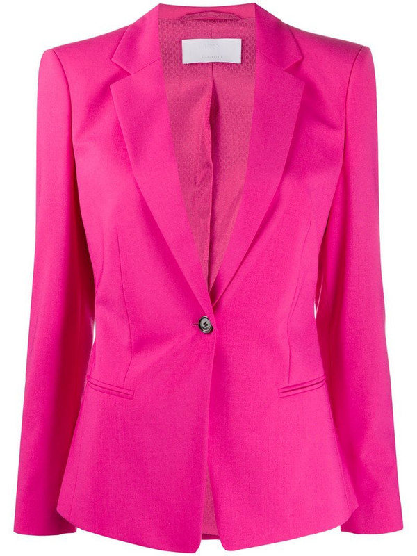 Boss Hugo Boss fitted single-breasted blazer in pink