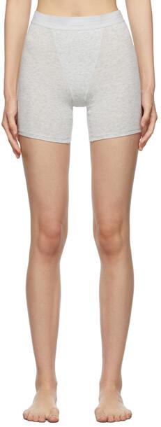 SKIMS Grey Boyfriend Boxer Shorts