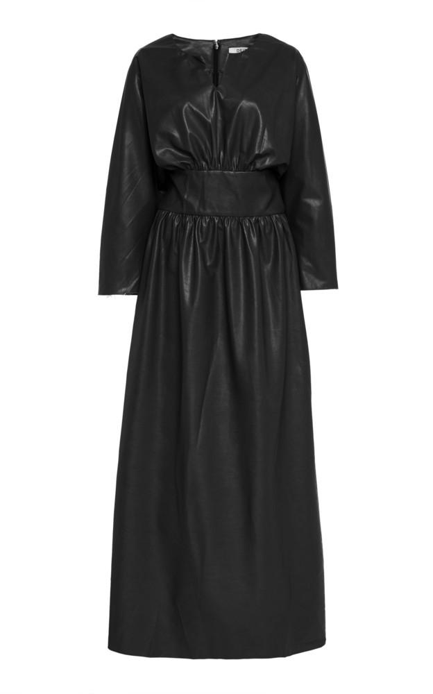 Deitas Hera Organic Vegan Leather Dress in black