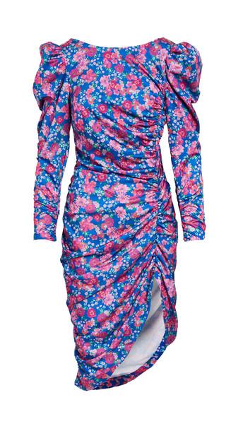 For Love & Lemons Annie Midi Dress in cobalt